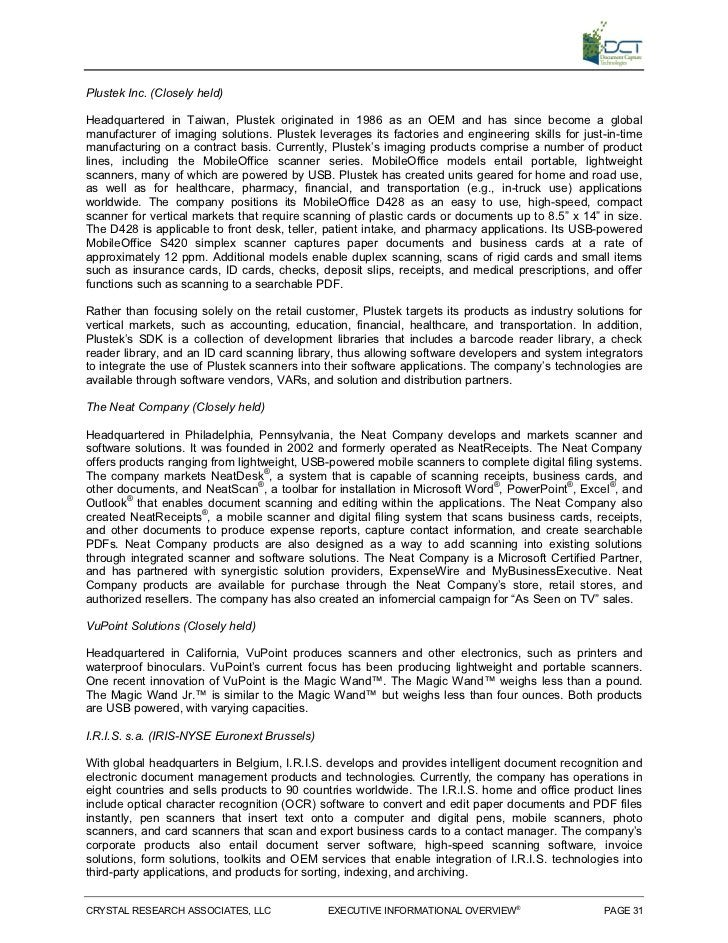 Document Capture Technologies (OTCBB: DCMT)