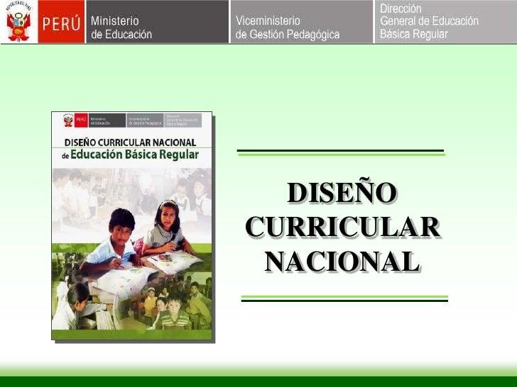 DISEÑO CURRICULAR NACIONAL<br />