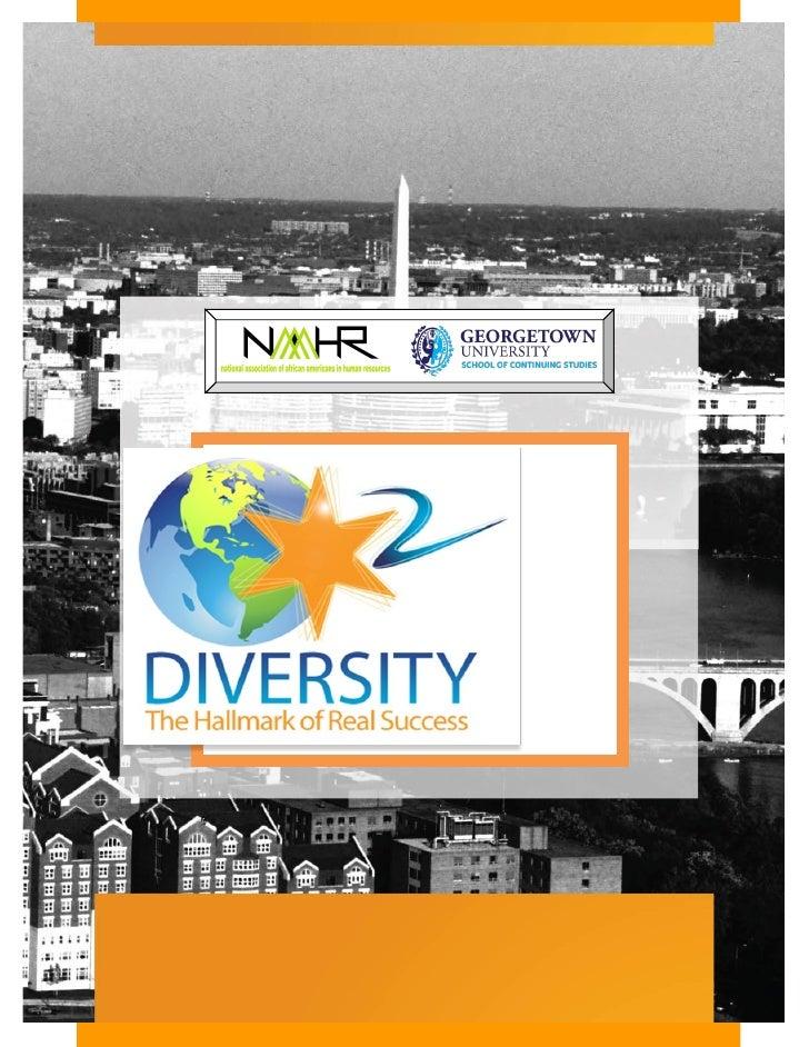 December 10, 2009 DC NAAAHR Diversity Summit National Press Club, Washington DC
