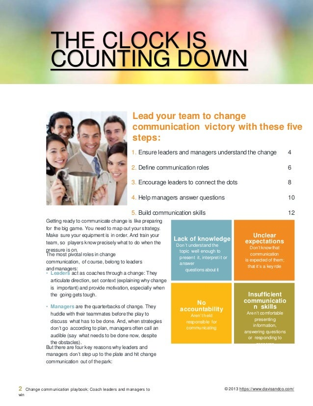 Change Communication Playbook For Leaders & Managers Slide 2