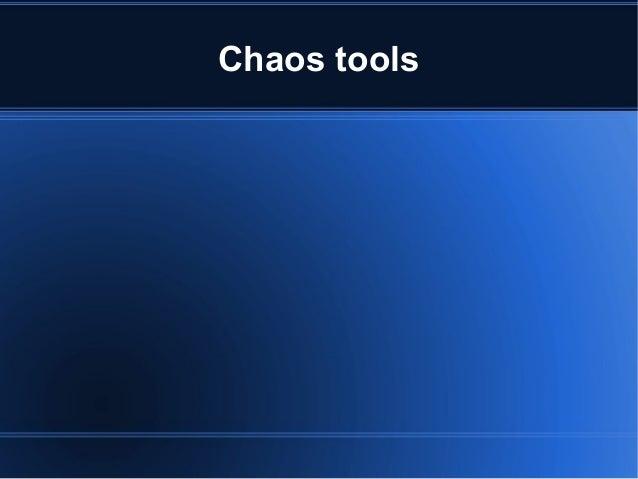 Chaos tools