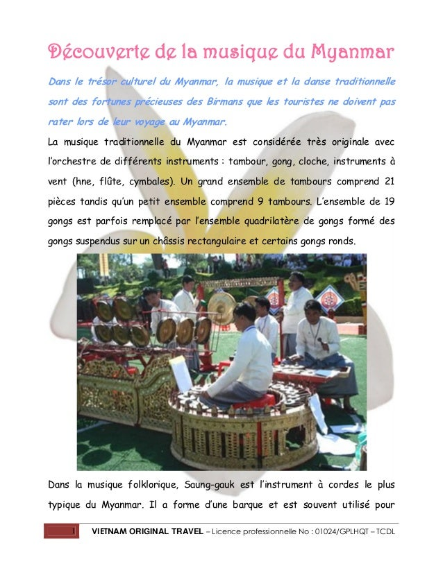 Découverte de la musique du Myanmar Dans le trésor culturel du Myanmar, la musique et la danse traditionnelle sont des for...