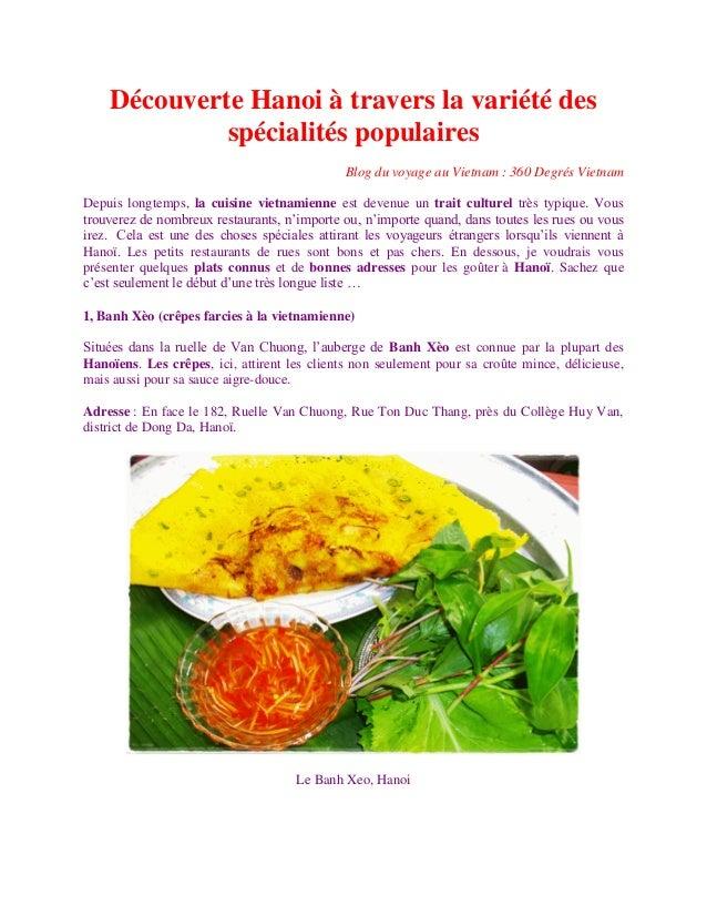 Découverte Hanoi à travers la variété des             spécialités populaires                                              ...
