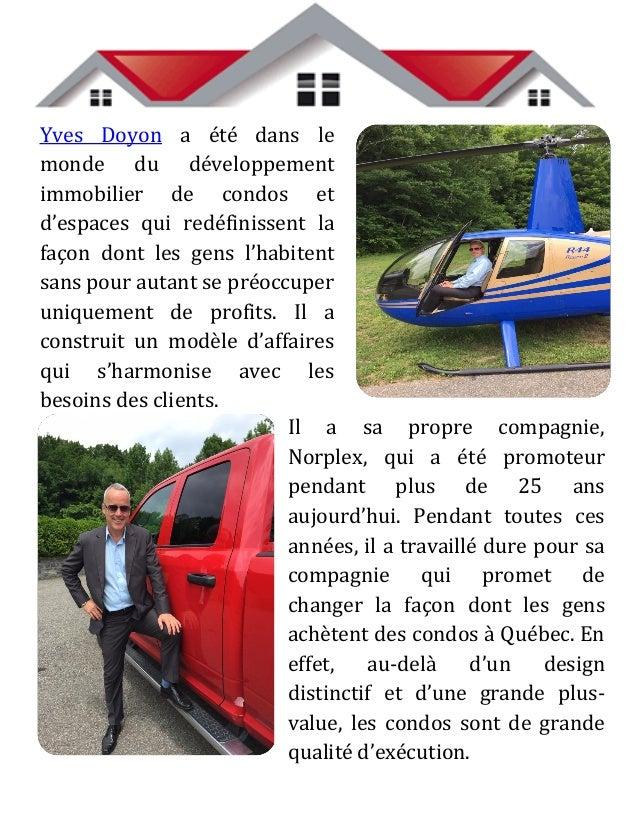 Si l'on recherche Yves Doyon au Canada, on trouve un homme qui n'est pas seulement préoccupé par les affaires, mais qui fo...