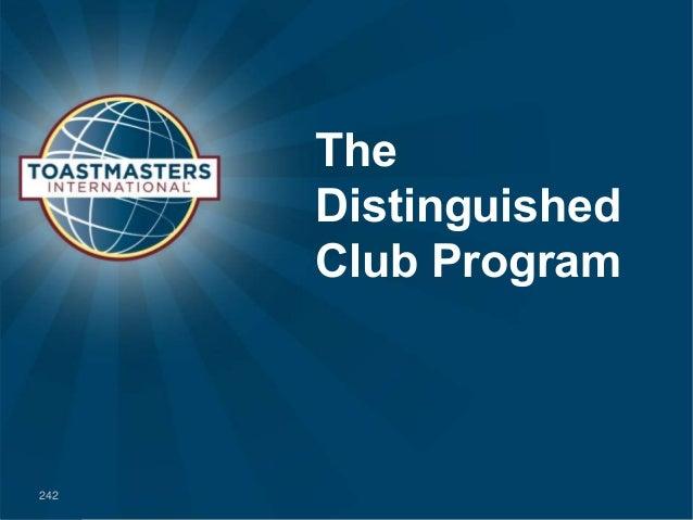 The Distinguished Club Program 242