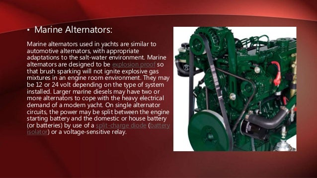 24 Volt Marine Battery >> types of alternator & its application