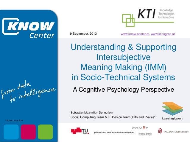 gefördert durch das Kompetenzzentrenprogramm Sebastian Maximilian Dennerlein 9 September, 2013 Social Computing Team & LL ...