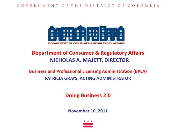 business registration and licensing | doing business in dc | dcra