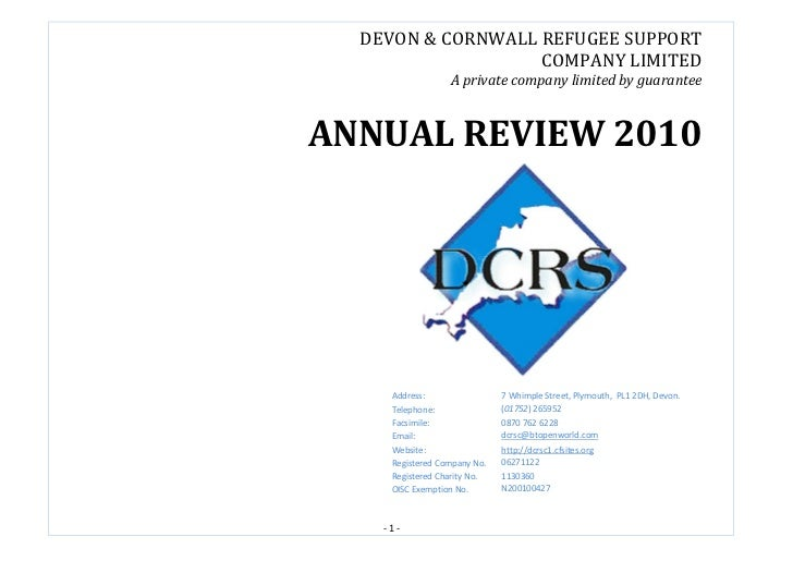 DEVON & CORNWALL REFUGEE SUPPORT                   COMPANY LIMITED                  A private company limited by guarantee...