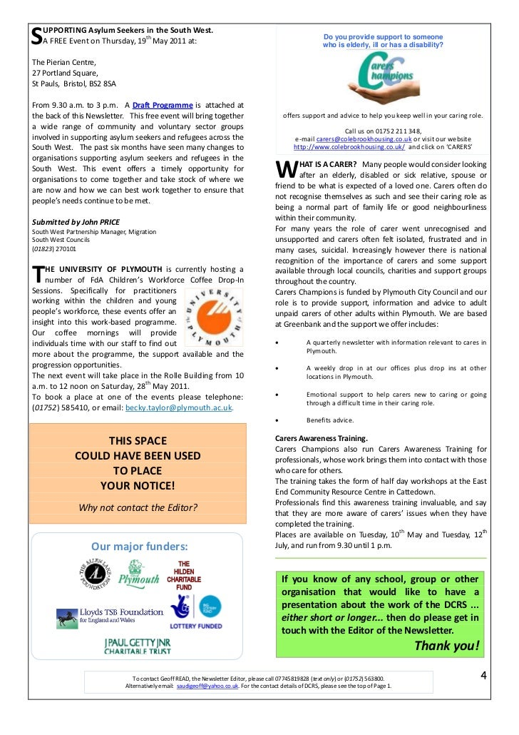 Dcrs May 2011 Newsletter
