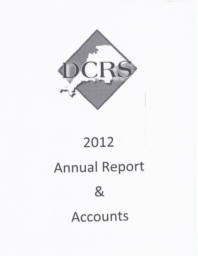 DCRS REPORT AND ACCOUNTS 2012