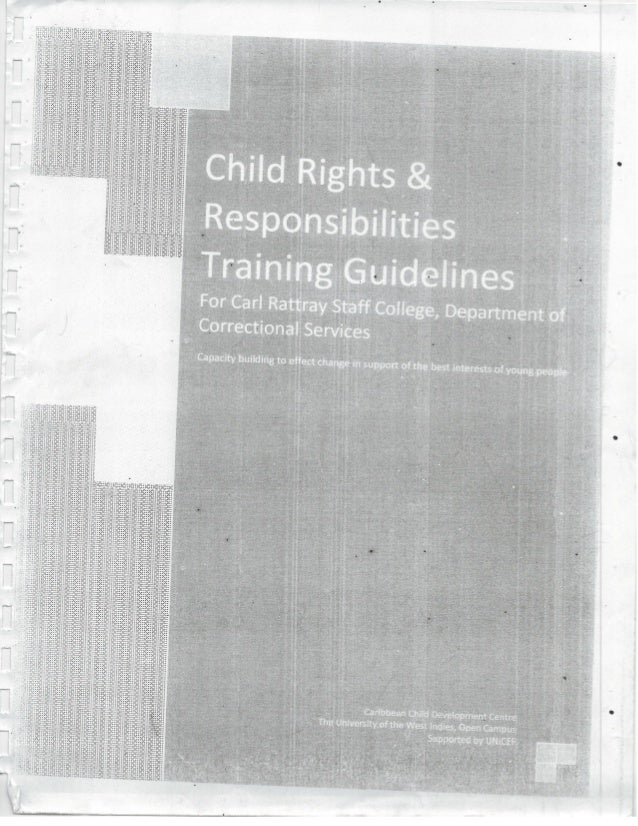 Dept. of Correctional Services - Child Rights & Responsibilities Training Guide - Jamaica