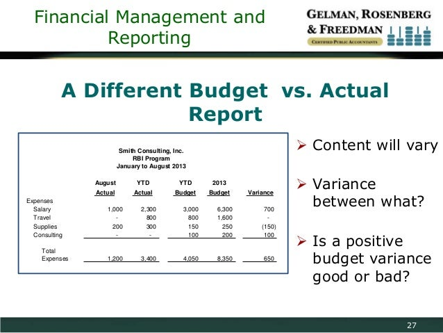 buget report