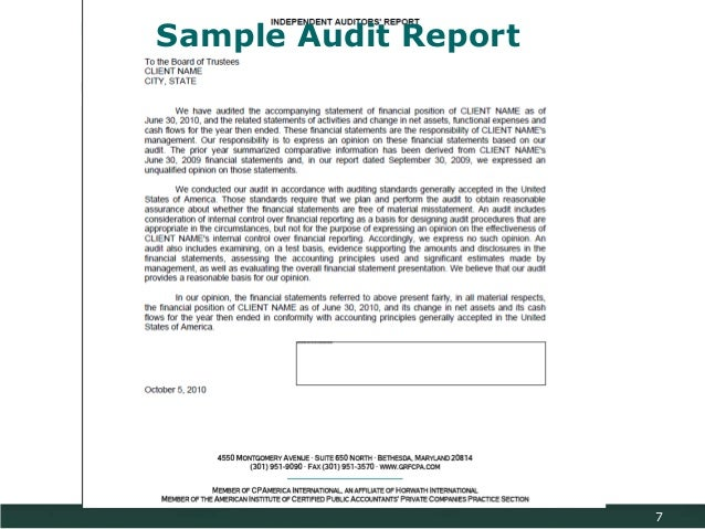 Sample Financial Report Annual Financial Report Template