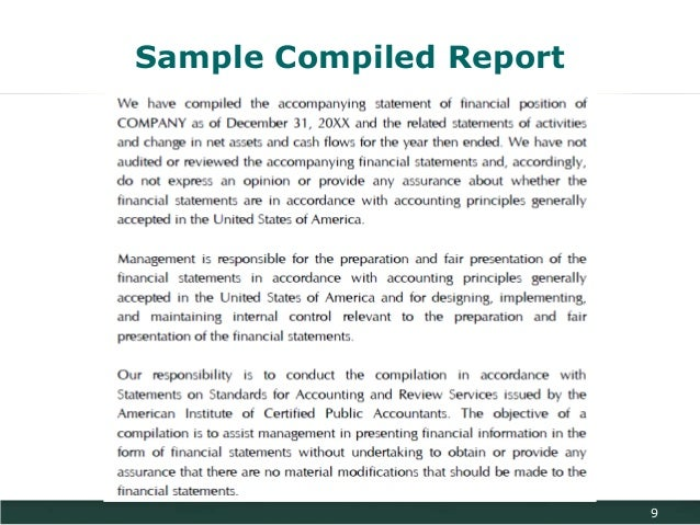personal financial statements compilation report Guide: preparation, compilation, and review  performing preparation, compilation and  accountant's compilation report on financial statements.