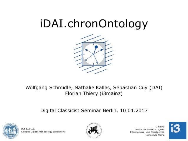 CoDArchLab Cologne Digital Archaeology Laboratory i3mainz Institut für Raumbezogene Informations- und Messtechnik Hochschu...