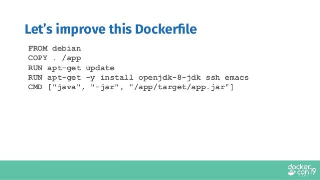 DCSF19 Dockerfile Best Practices