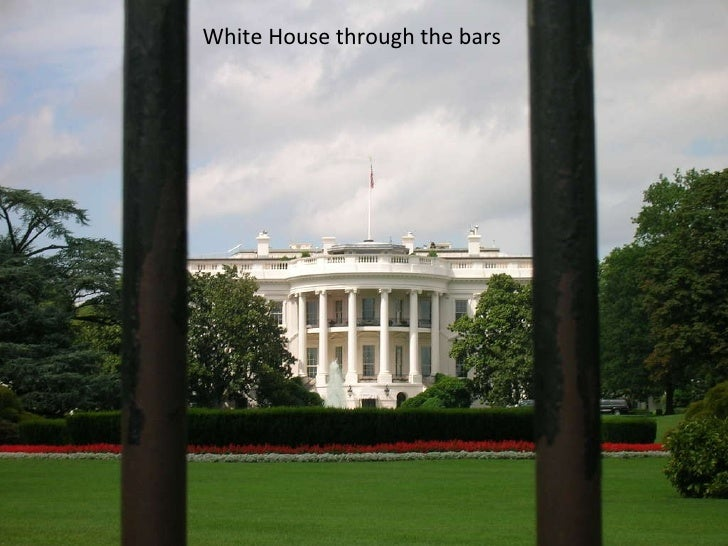 White House through the bars