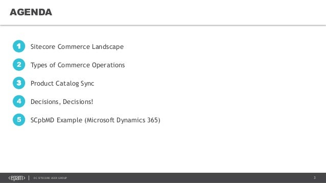 Sitecore Commerce Catalog Management at Scale Slide 3