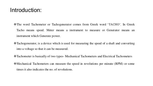 dc tachometer 3 Phase Motor Wiring Diagrams dc tachogenerator; 2 introduction the word tachometer