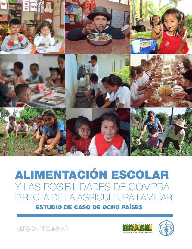 Alimentacion escolar estudio de caso en ocho países