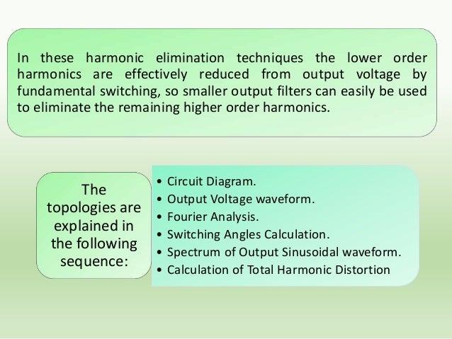 Fundamental idea of harmonic Elimination 6 Fundamental Component 3rd Harmonic 4  2  120 Degree Conduction 210  330  0  30 ...