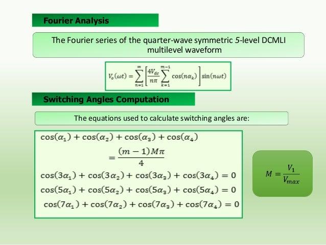 5-Level DCMLI Output Voltage Waveform for M=0.82  Voltage Spectrums Normalized to Fundamental Component