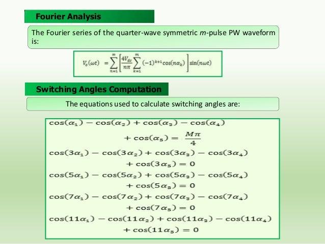 PWM Inverter Output Voltage Waveform for M=0.82  Voltage Spectrums Normalized to Fundamental Component