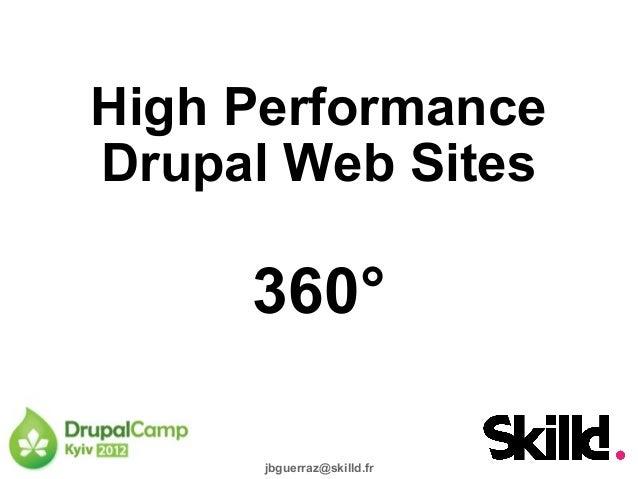 High Performance Drupal Web Sites  360° jbguerraz@skilld.fr