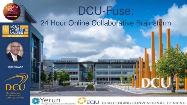 @mbrownz DCU-Fuse: 24 Hour Online Collaborative Brainstorm