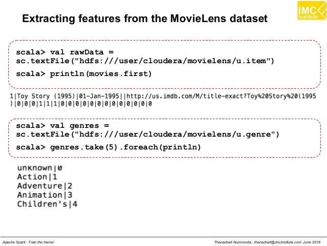 Machine Learning using Apache Spark MLlib
