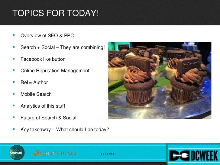 Search+Social Integrated: Best Practices for Applying These Two Powerful Strategies Today for DC WEEK  Slide 2