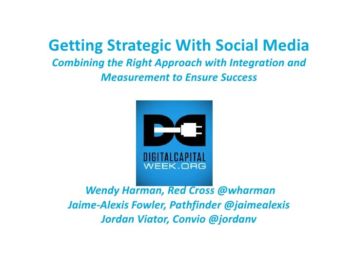 Getting Strategic With Social MediaCombining the Right Approach with Integration and Measurement to Ensure Success Wendy H...