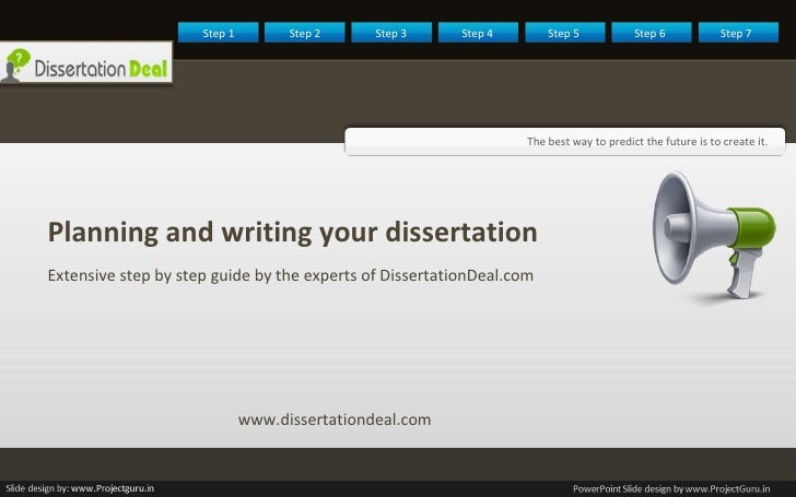 <ul><li>Planning and writing your dissertation  </li></ul><ul><li>Extensive step by step guide by the experts of Dissertat...