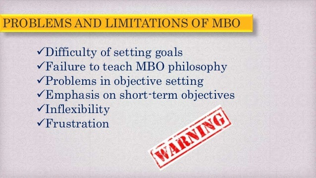 limitations of mbo