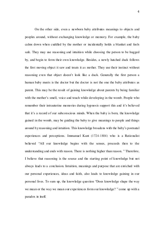 tok essay 4