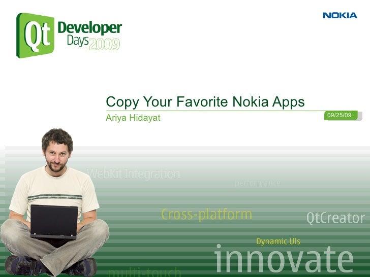 Copy Your Favorite Nokia Apps                                 09/25/09 Ariya Hidayat
