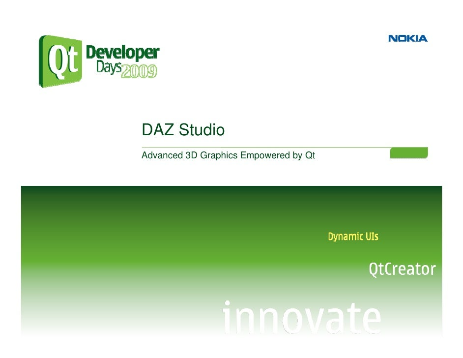 DAZ Studio Advanced 3D Graphics Empowered by Qt