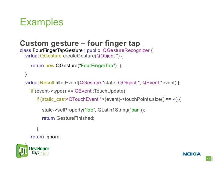 Using Multi-Touch and Gestures with Qt