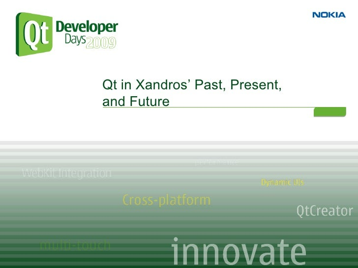 Qt in Xandros' Past, Present, and Future