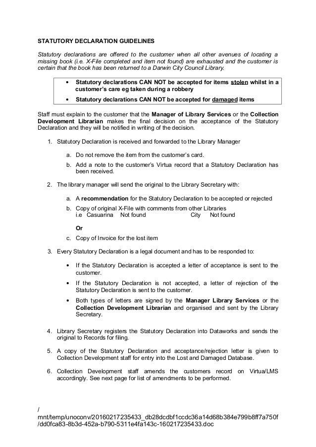 Statutory Declaration Guidelines_July 2010