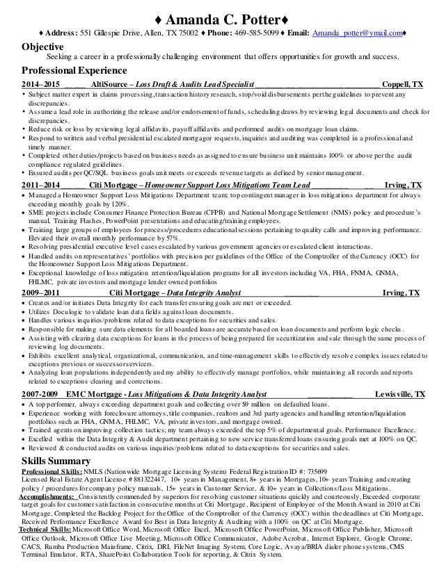 amanda potter resume 2015  data analyst resume