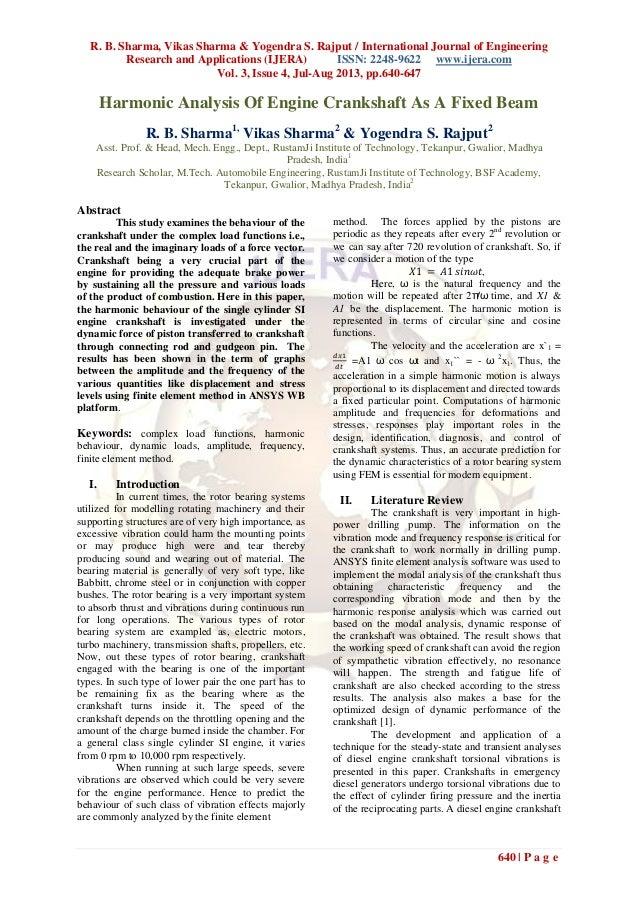 R. B. Sharma, Vikas Sharma & Yogendra S. Rajput / International Journal of Engineering Research and Applications (IJERA) I...