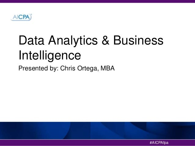 Data Analytics and Business Intelligence