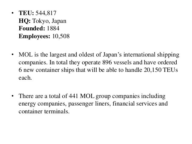 Container Shipping Lines and their Services