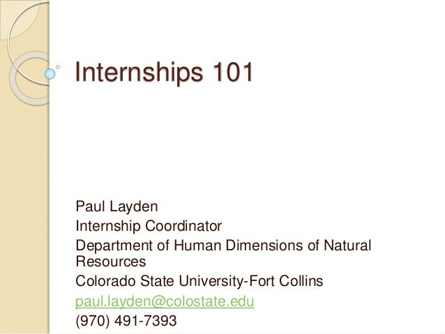 Colorado State Human Dimensions Of Natural Resources