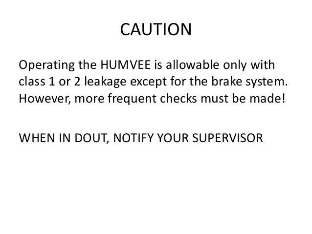 preventative maintenance pmcs of hmmwv rh slideshare net hmmwv technical manual .pdf M998 HMMWV