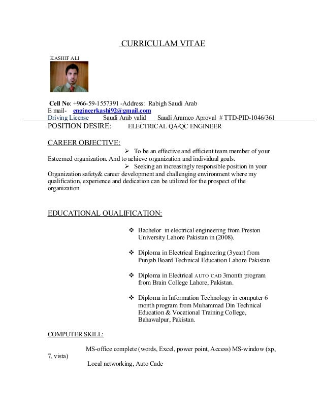 Resume Format For Quality Control Engineer Resume Template Ideas