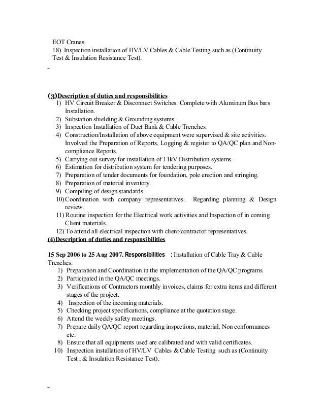 electrical engineer job description pdf