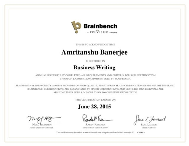 Amritanshu Banerjee Business Writing June 28, 2015 12685613